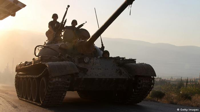 Lebanese tank. (Photo: AFP/Getty Images)