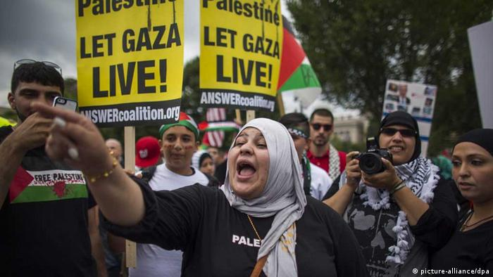 Gaza-Protest in Washington. (Foto: picture-alliance/dpa)