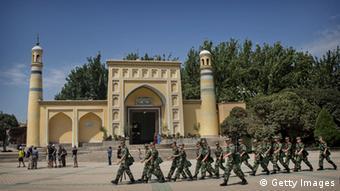 (Archiv) Die Moschee in Kashgar, Xinjiang, wird streng überwacht. (Foto: Getty Images)