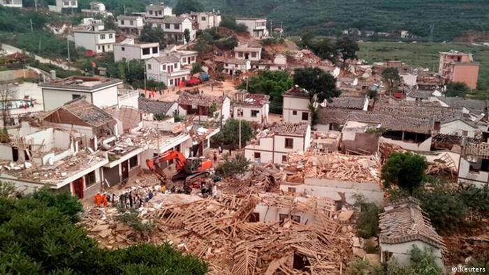 China Erdbeben 3.8.2014