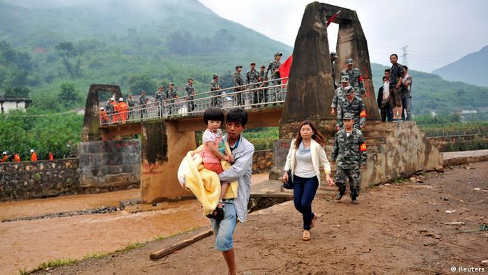 China Erdbeben Provinz Yunnan 04.08.2014