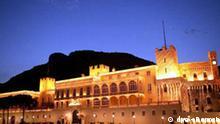 Grimaldi Palast in Monaco bei Nacht