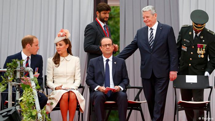 Prince William, wife Kate, President Hollande and President Gauck