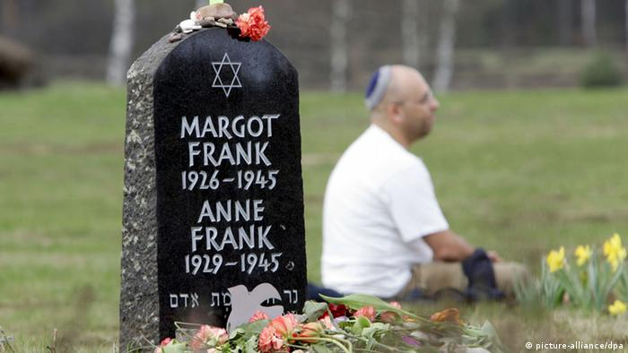 Grabstein Anne und Margot Frank