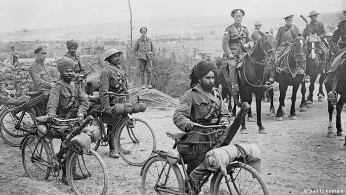 یک میلیون سرباز هندی در جنگ جهانی اول حضور داشتند