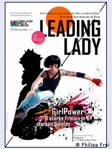 Poster for the Leading Lady exhibition at the Computerspielemuseum Berlin, Copyright: Philipp Frei