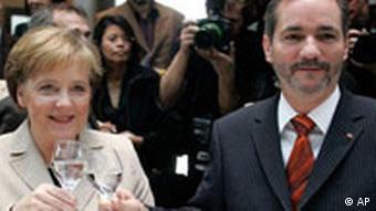Koalitionsvertrag Angela Merkel und Matthias Platzeck