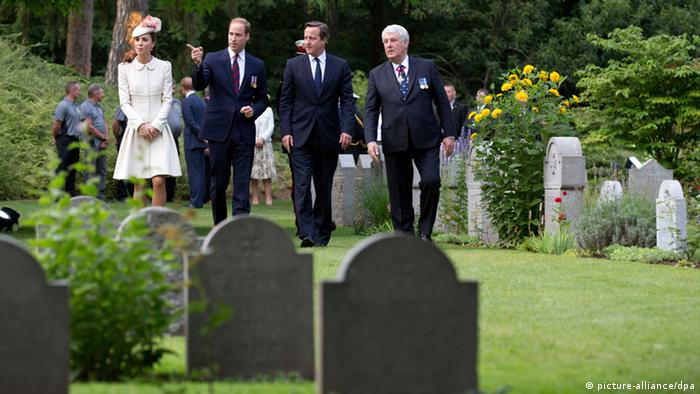 Kate Middleton, Prince William, David Cameron and Joachim Gauck in Mons