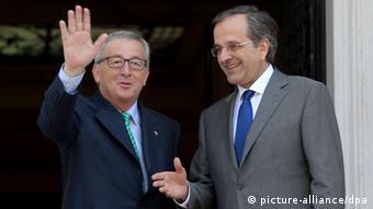 Jean-Claude Juncker dhe Antonis Samaras