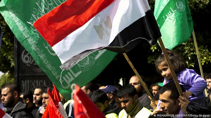 Hamas supporters rally in Egypt
