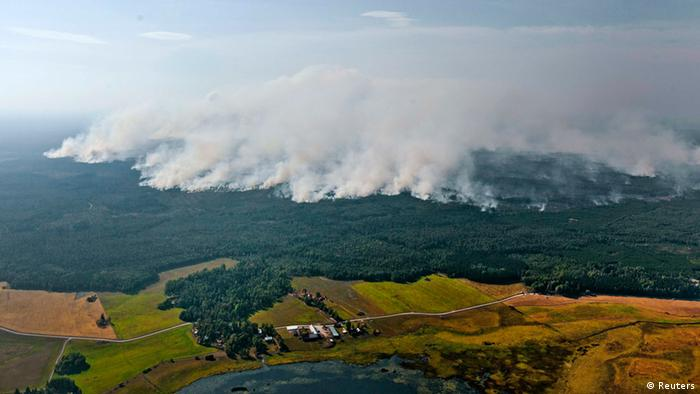 Forest fires in Sweden