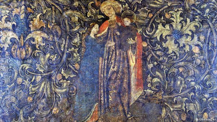 Святая Анна. Настенная роспись 1500 года