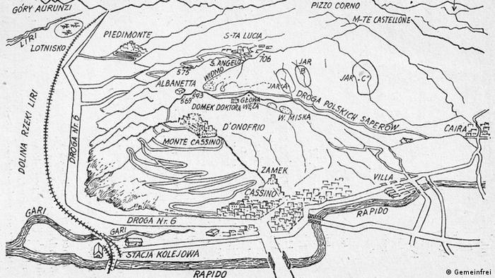 Schlacht Monte Cassino 1944 Plan