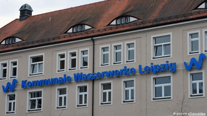The headquarters of Leipzig's waterworks