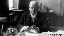 circa 1921: German statesman Gustav Stresemann (1878 - 1929). (Photo by General Photographic Agency/Getty Images)
