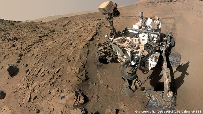 Selfie of Mars Curiosity rover (picture-alliance/dpa/NASA/JPL-Caltech/MSSS)