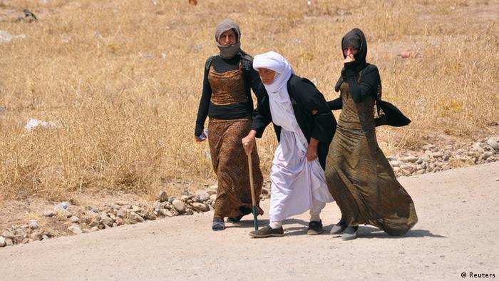 Jesiden auf der Flucht, August 2014 (Foto: REUTERS/Ahmed Jadallah)