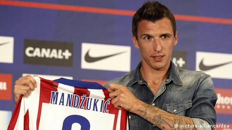 Mario Mandzukic on 24.07.2014 in Madrid