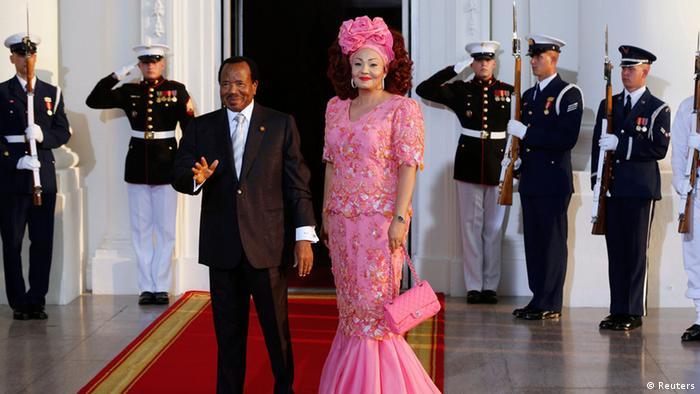 Paul Biya mit seiner Ehefrau Chantal beim US-Afrika-Gipfel 2014 (Reuters)