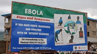 Інформаційний стенд: симптоми еболи
