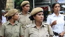 To control rising crime against women Indian government has recently asked all the states to provide 33 percent reservation for women in police force. On the other hand women police constables are not happy with the system and situation. Women Police Constables in Kolkata. Pix taken on 06-08-2014 in Kolkata. Keywords---Women police constables, Reservation, Kolkata, India *** DW, Prabhakar Mani Tewari, 06.08.2014
