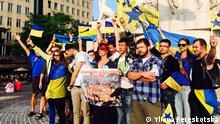 12 активістів Автомайдану подолали близько 6500 кілометрів, провели акції у Любліні, Кракові, Відні, Парижі, Брюсселі, Амстердамі, Берліні та Варшаві.
