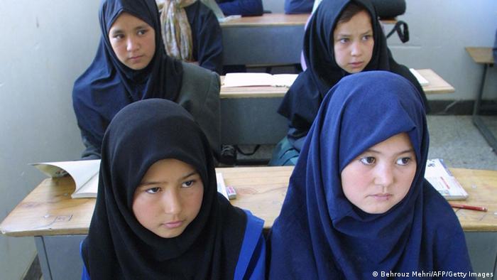 Afghanische Flüchtlingskinder in einem Flüchtlingslager in Iran