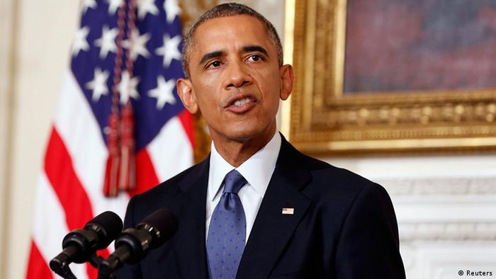 USA Präsident Barack Obama in Washington zu Lage in Irak Kurden IS