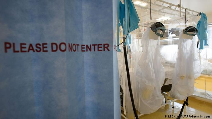 Ebola Vorbereitungen in Londoner Krankenhaus