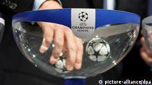 epa04345534 UEFA General Secretary Gianni Infantino conducts the draw of the UEFA Champions League 2014-15 playoff round at the UEFA headquarters in Nyon, Switzerland, 08 August 2014. EPA/SALVATORE DI NOLFI