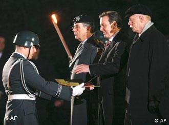 Schröder was honored by the military