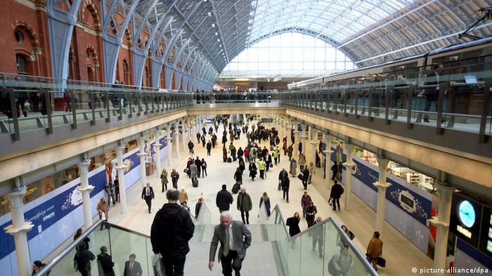 Dworzec St. Pancras w Londynie