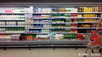 Supermarkt in Moskau Thema Importstopp