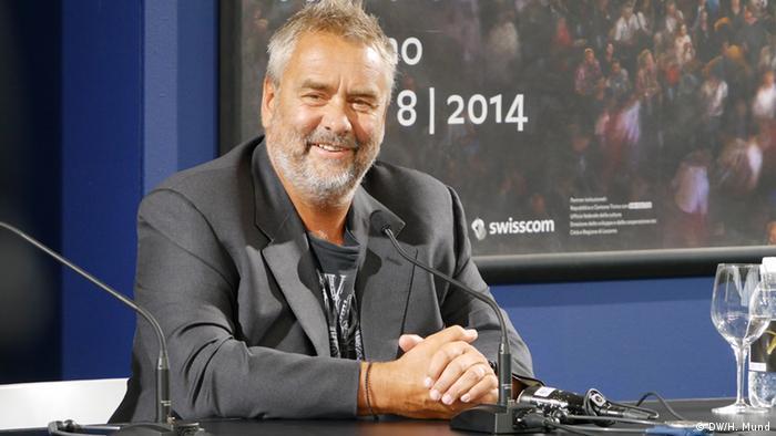 Filmfestival Locarno Regisseur Luc Besson bei einer PK (DW/H. Mund)