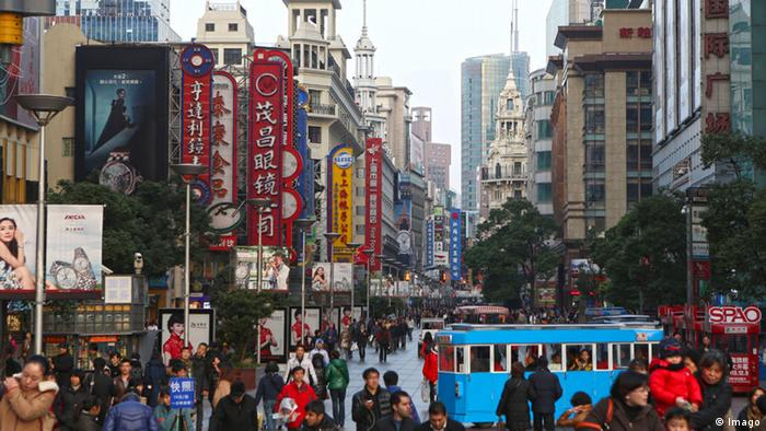 Nanjing Road - a busy shopping street in Shanghai