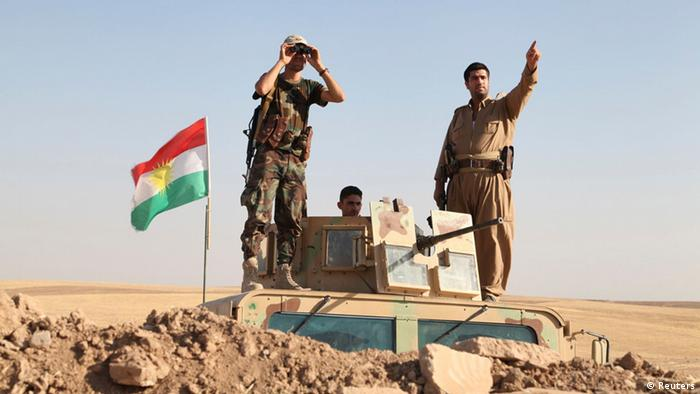 Peshmerga forces deployed against Islamic State at front in Khazer