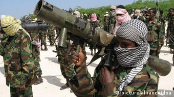 Somalian fighters with al-Shabab