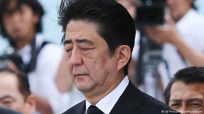 Japan Gedenkveranstaltung Jahrestag Atombombenabwurf in Nagasaki 09.08.2014