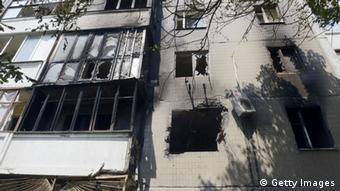 Ukraine - Spuren des Kampfes in Donezk