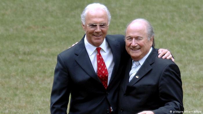 Joseph Blatter und Franz Beckenbauer