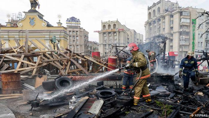 Ukraine Krise Räumung des Maidan Kiew 09.08.2014