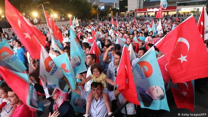 هواداران حزب عدالت و توسعه در انتخابات ریاست جمهوری ۲۰۱۴