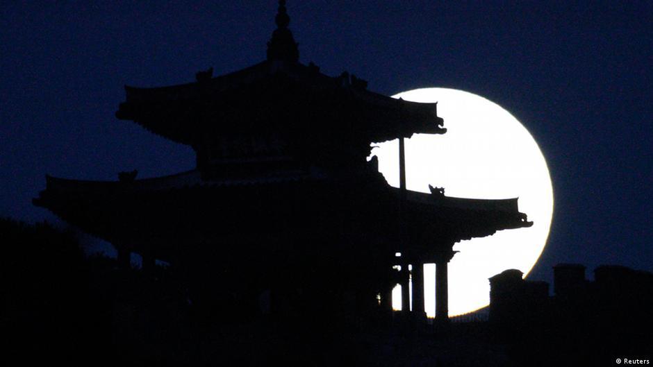Bildergalerie Supermond China 10.08.2014