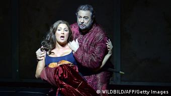 Anna Netrebko and Placido Domingo perform in Il Trovatore at the Salzburg Festival 2014. Photo: WILDBILD/AFP/Getty Images)
