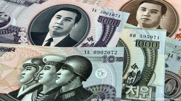 Cédulas de dinheiro norte-coreano