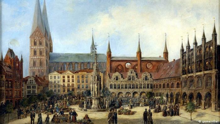 Мариенкирхе на картине 1880 года