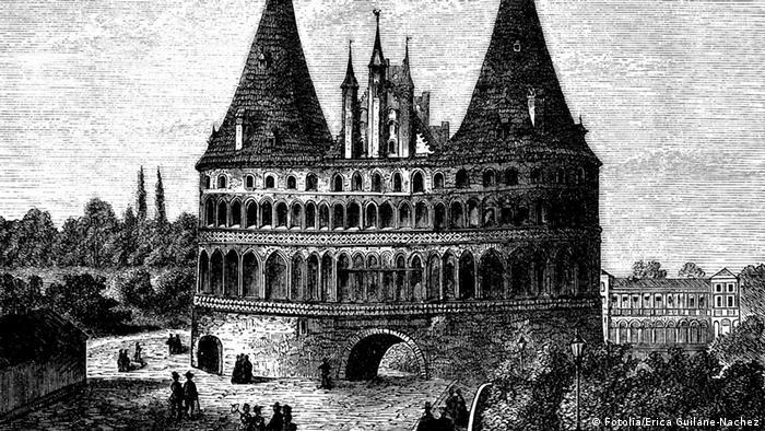 Голштинские ворота на гравюре XIX века