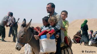 Irak Flüchtlinge 10.08.2014 Sindschar Gebirge