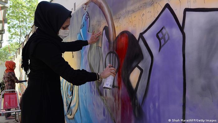 Afghanistan Kunst Grafitti Straßenmalerei in Kabul