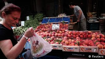 Griechenland Obst und Gemüse Markt in Athen